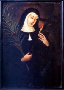 Santa Rita de Cássia (óleo do século XVII)